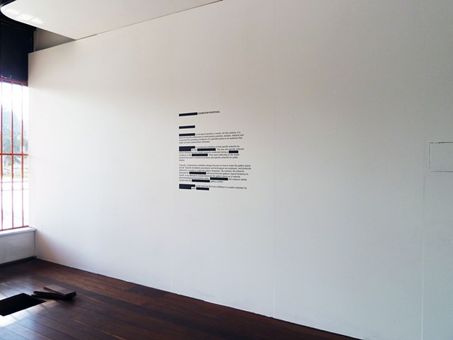 (Blank) Exhibition Proposal