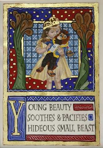 Young Beauty Sooths & Pacifies Hideous Small Beast