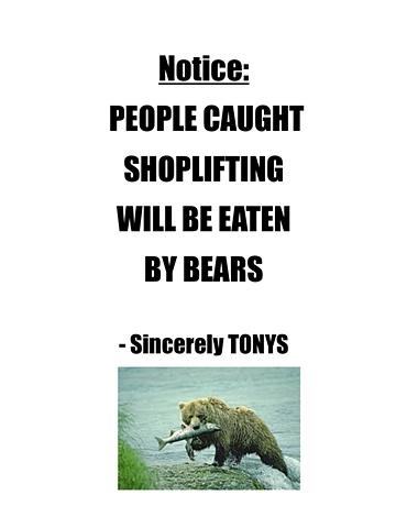 Anti-theft warning