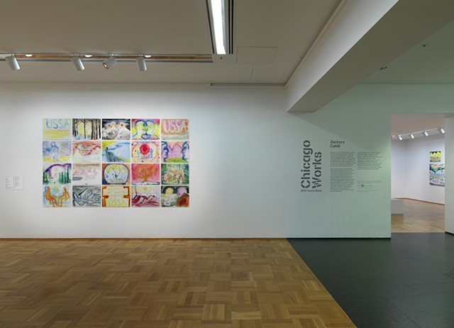 """Snow"" installation view"