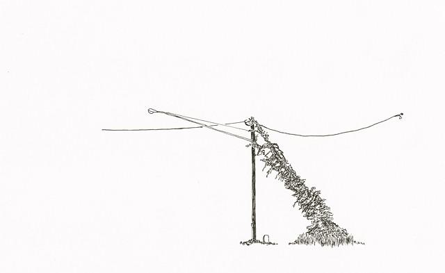 overgrown lamppost