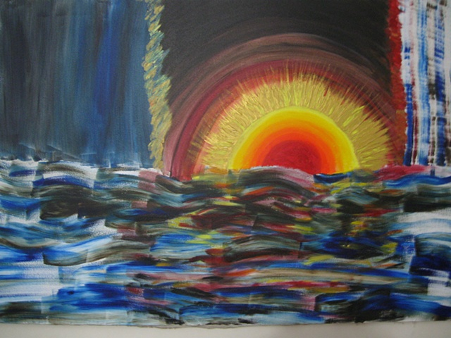 Conceptual Acrylic Painting on Canvas