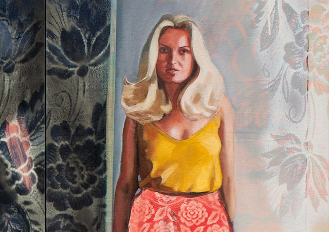 Contemporary figurative painting of Susanne Mitchell.