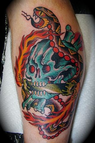 Skull, Snake, Candle