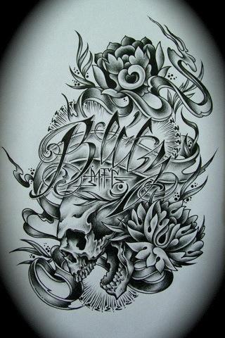 Blitz Skull & Flowers