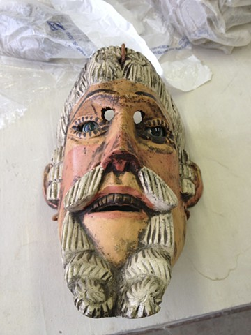 Guatamalen mask we purchased in Chichicastenango