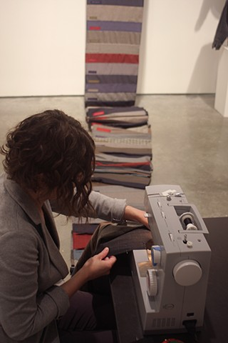 Adding a section representing the mass shootings that occurred from mid-August to mid-September while the piece was on view at the Nevada Museum of Art in Reno.