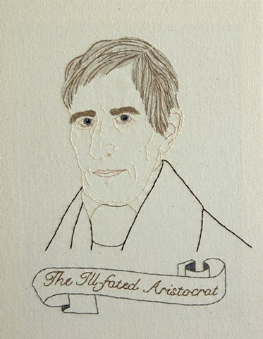 William Henry Harrison embroidery fiber art US Presidents american history