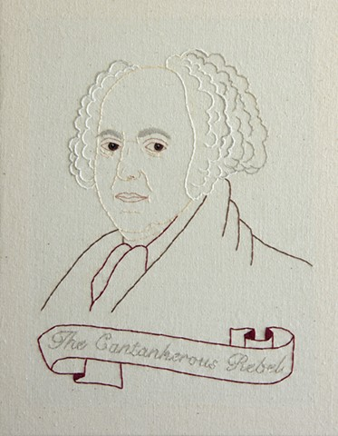 John Adams embroidery fiber art US Presidents american history