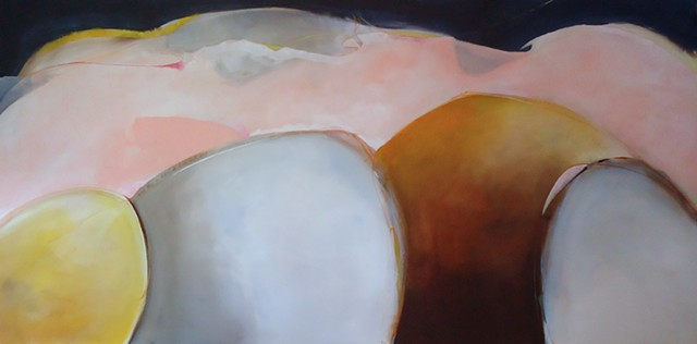 large scale figurative abstract acrylic painting