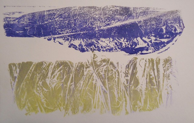 relief printed collagraph