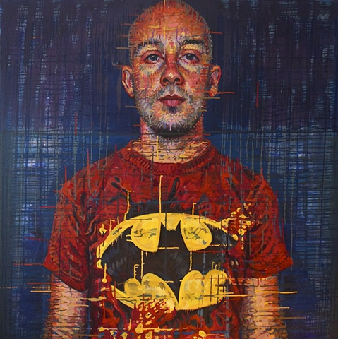 Nick Ward in a Batman T-Shirt  (joeSCHMO-SUPERhero)  Check out the current issue of Poets&Artists Issue 38 - Sept 2012