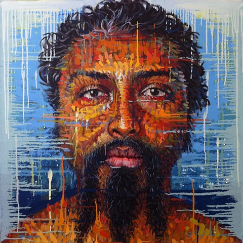 Painting of a man w a beard