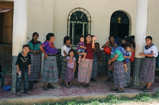 Women and children from the village of Santa Elena, 2011