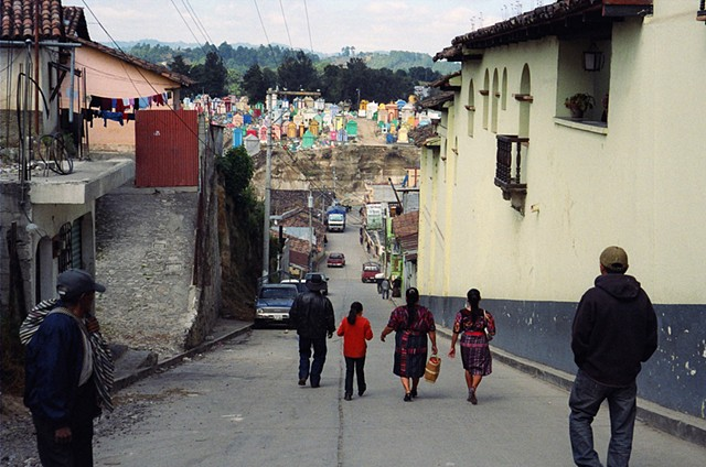 View of the cemetery in Chichicastenango, 2010