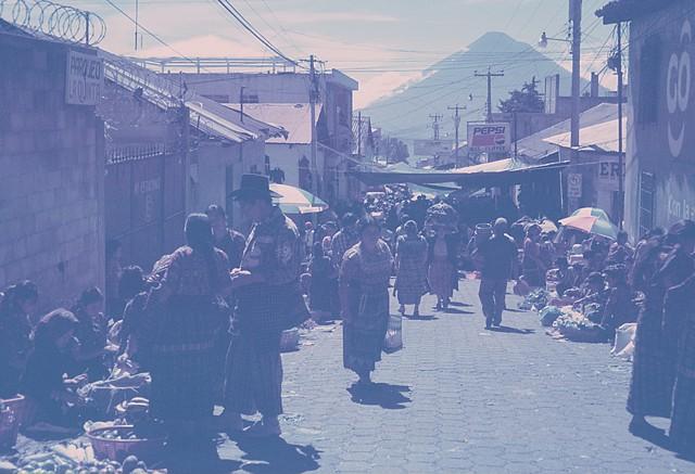 A lakeside market scene, 2010 (Kodachrome)