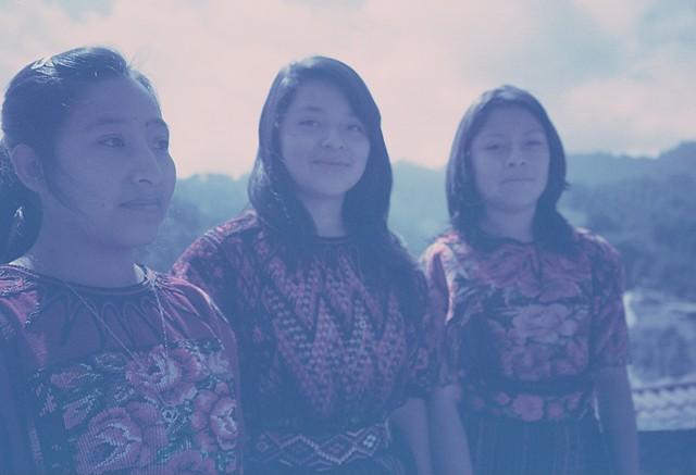 Young women in Chichicastenango, 2010 (Kodachrome)