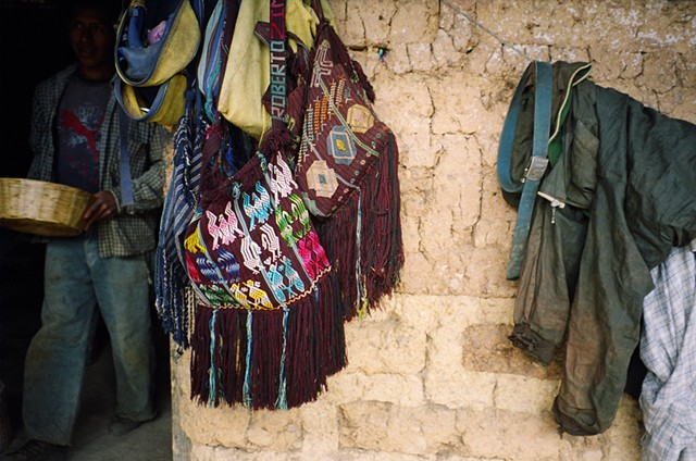 Handmade bags men and women carry, these are in a village outside Colotenango, 2010