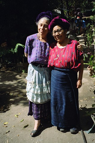 Sarah Matzar and Martina Matzar, 2010.  Sarah Matzar, originally from the U.S. is an textiles historian and artist who has lived in Guatemala since the 1970s.