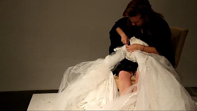 video still from performance documentation, Talena Sanders