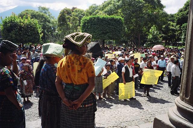 Protestors in Antigua, 2010