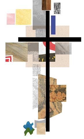Digital collage, cross, collage, spiritual