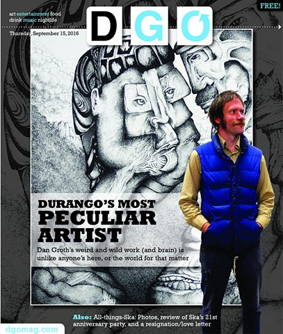 Cover story about Groth from DGO magazine