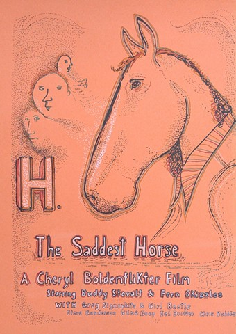 horse poster movie saddest sharpie