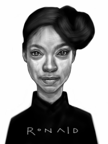 Digital sketch on iPad