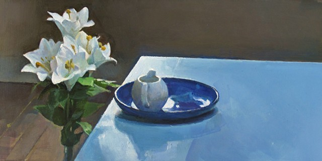Lillies and Blue Table (Emergence)