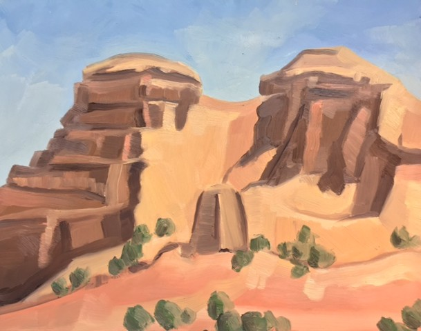New Mexico Paintings, landscape painting, oil painting, all prima painting, plein air painting, painting on site