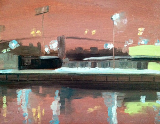 urban landscape, newtown creek, brooklyn