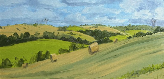 Landscape painting from southern France