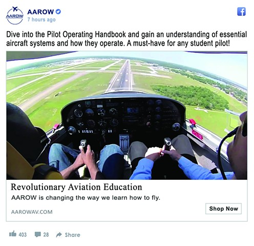 AAROW Facebook Ad Design
