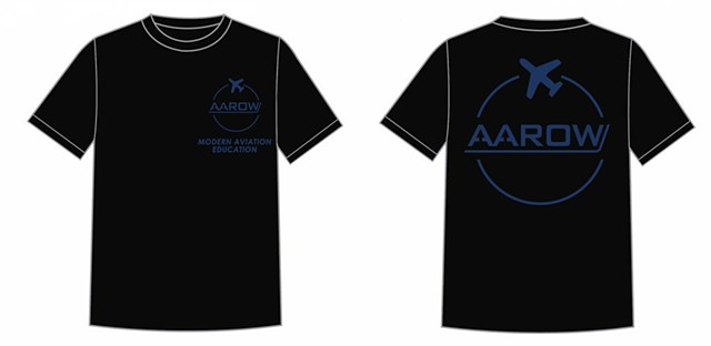 AAROW Black T-shirt design