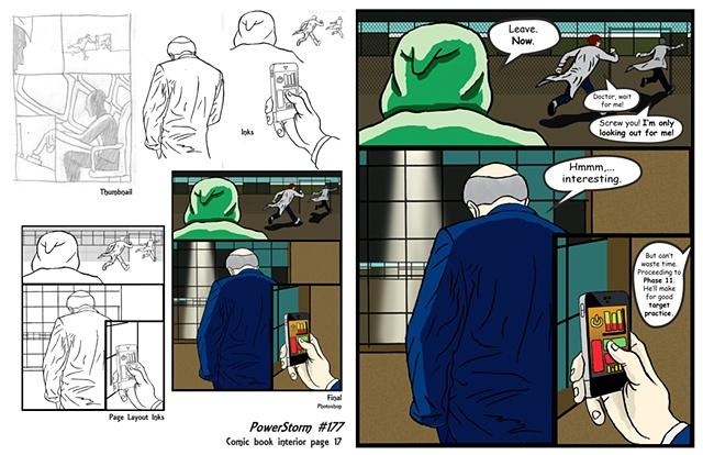 PowerStorm #177 interior page 17 process
