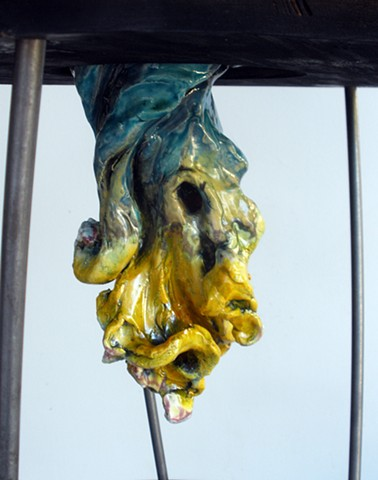Knuckle Ball, detail hanging