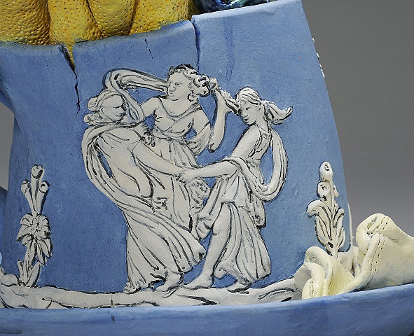 Large Wedgwood Cup Runneth Over detail of the Three Graces by Linda S Fitz Gibbon