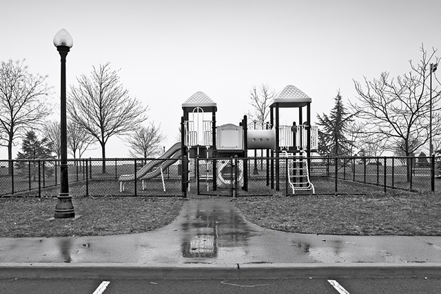 Photograph of a Jungle Gym, Scenic Hudson Park, Irvington, NY, by Judith Ebenstein