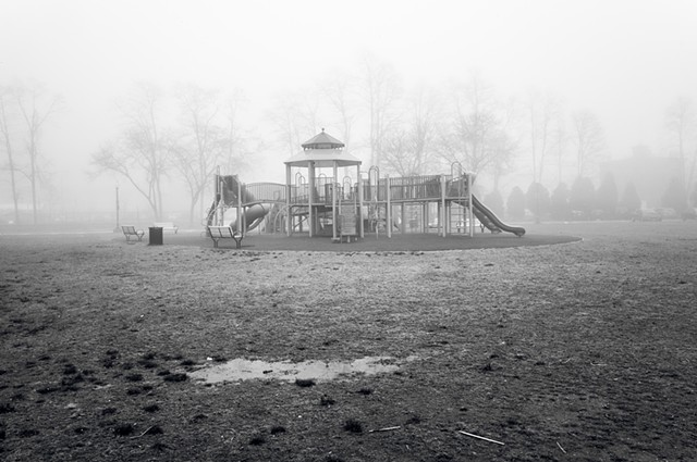 Photograph of Jungle Gym in Riverfront Green Park, Peekskill, NY, by Judith Ebenstein
