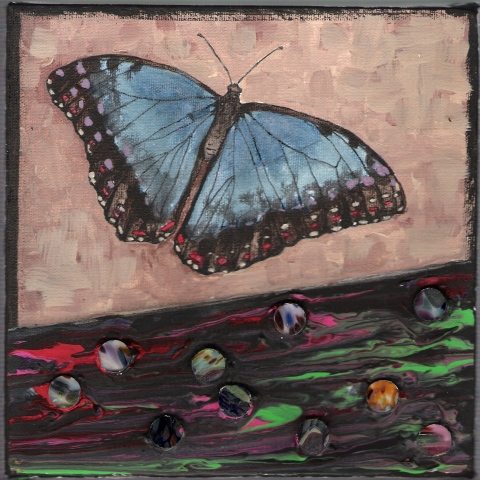 Butterflies & Ghosts 5 SOLD