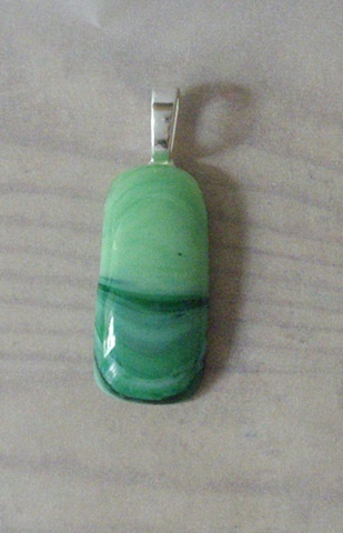 unique recycled glass pendant