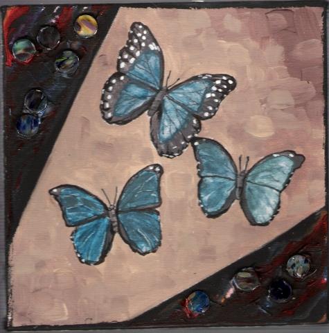 Butterflies & Ghosts 3 SOLD