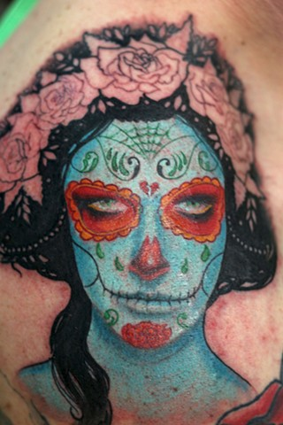 Sylvia Ji Day of the Dead Girl Tattoo