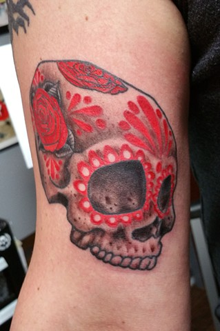Rojo Day of the Dead Tattoo