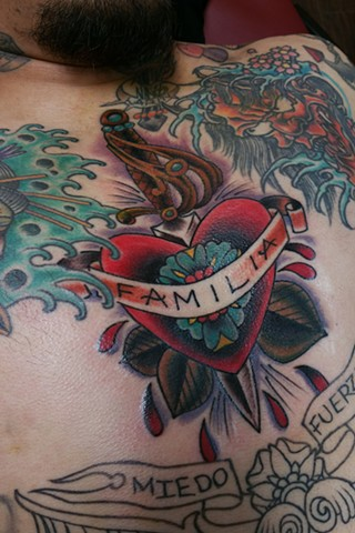 Familia Heart Tattoo