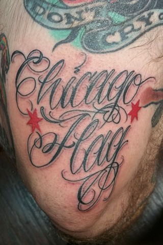 Chicago Flag Tattoo
