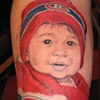 Tatouage portrait enfant
