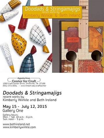 Doodads & Stringamajigs recent works by Kimberly Winkle and Beth Ireland