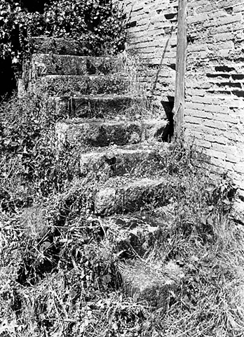 """""""Steps""""  Steps in front of an abandoned house evoke visions of times past."""
